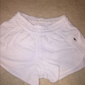 lululemon athletica Shorts - Lululemon white tracker running shorts